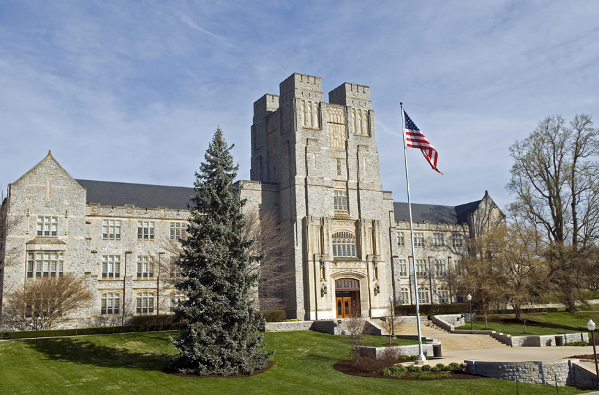 Burruss Hall In The Spring
