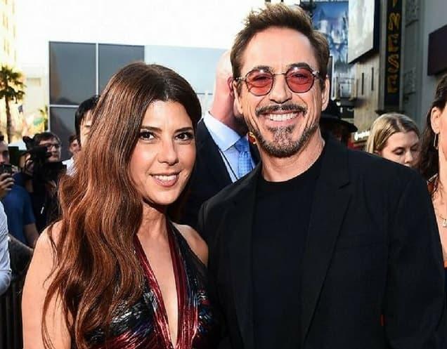 With Robert Downey Jr