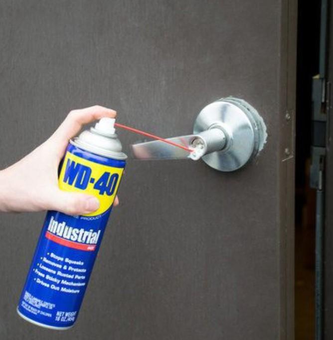 Lubricating A Door Handle