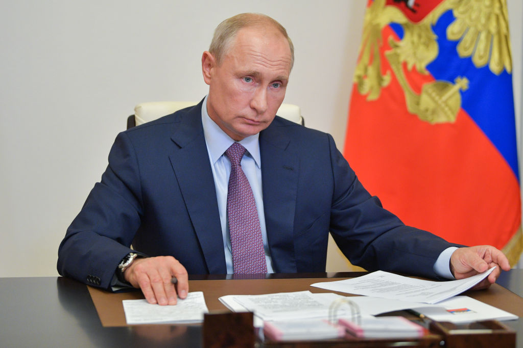 Russian President Putin Holds Meeting Of Victory Organizing Committee